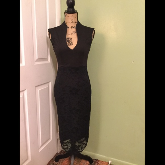 Almost Famous Dresses Figure Hugging Little Black Dress Poshmark